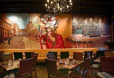 Chinatown Restaurant with Mural