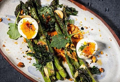 Eggs and Roasted Asparagus