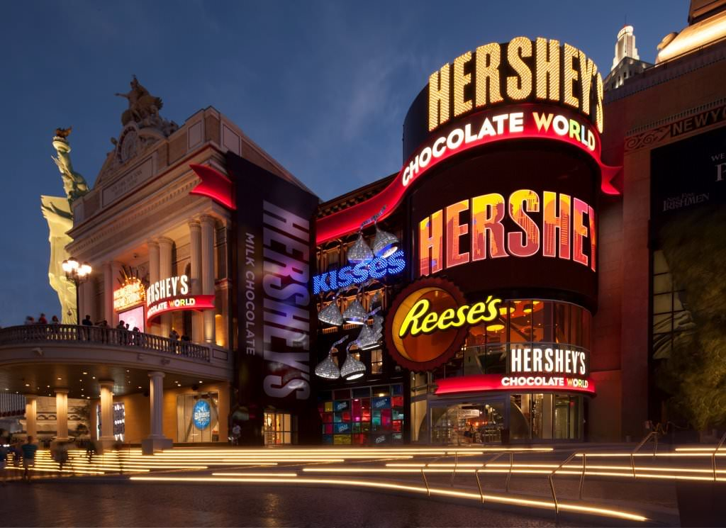 outside of hershey chocolate world