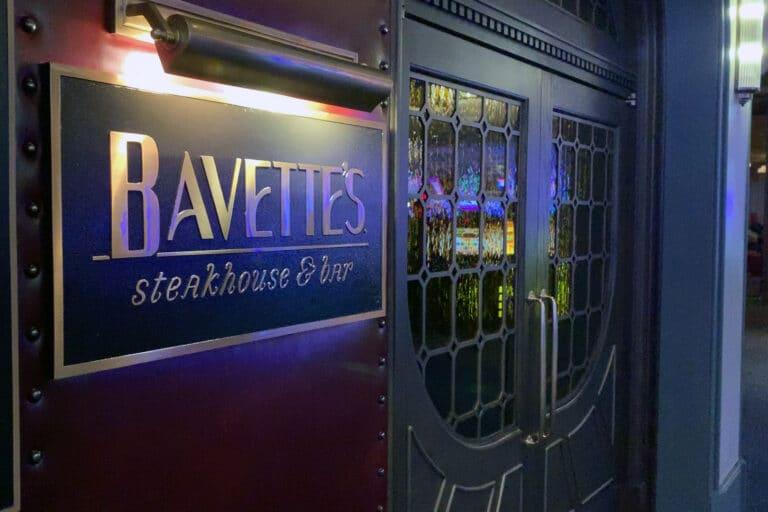 Front Door sign for Bavettes Park MGM